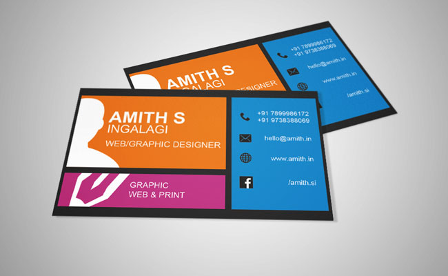 Free Business Card Template For WebGraphic Designers AMy Business - Web design business cards templates